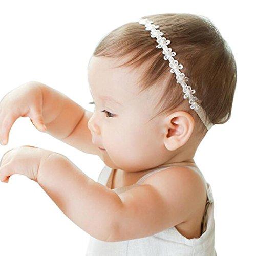 sunnymi Stirnband Baby Mädchen Viele Die Essenz Stil  Stirnbänder Festlich Taufe Fotoshootings (Perle Blumen, 40-48 cm)