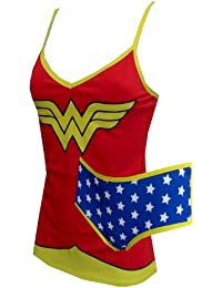 Webundies Dc Comics Wonder Woman Cami Tank And Panty Set (Juniors Large)