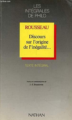 Discours sur l'origine de l'inégalité par Jean-Jacques Rousseau