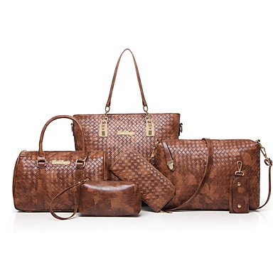 Le donne della moda Classic Crossbody Bag,Beige Blue