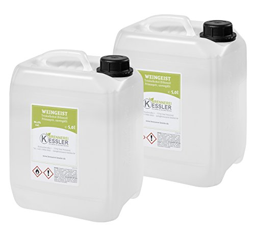 Weingeist Primasprit Ethanol 96,4% - 2 x 5000ml - Brennerei Kessler