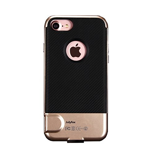 Julyfox iPhone6/iPhone6s Memory Expansion Case 256GB Micro SD/TF Card Supported iPhone 6/6s Card Reader and Shockproof Scratchproof Case Made of High Hardness PC Material(Golden) -