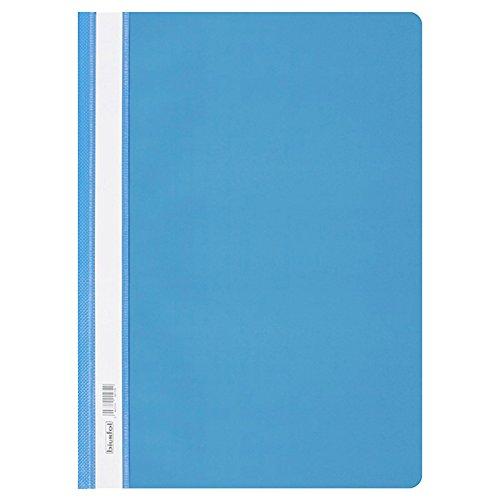 Schnellhefter DIN A 4 mit transparentem Vorderdeckel 5 x Light Blue