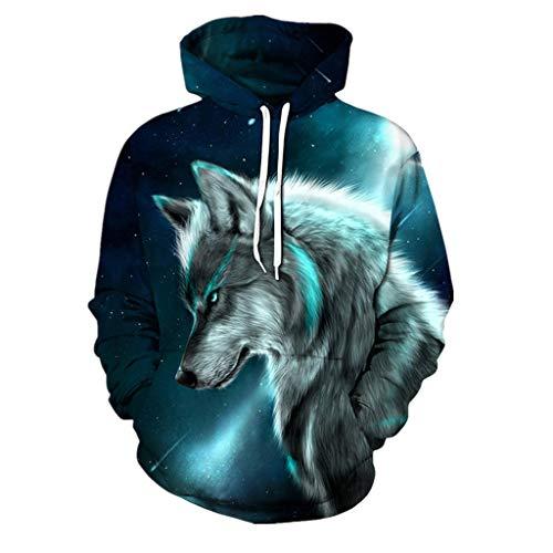 SANFASHION Pullover Liebhaber Herren Damen Herbst Winter 3D Print Langarm  Hoodies Sweatshirt Top Streetwear af3ae6da902