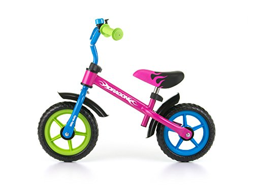 Milly Mally Dragon Balance Bike Con Bell Multicolore