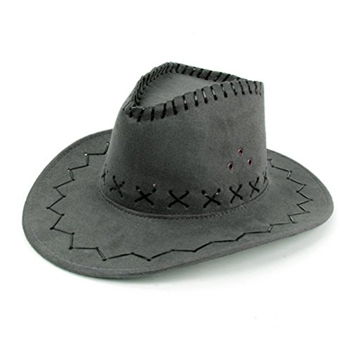 hmilydyk Cowboy Hat Fancy Dress Zubehör Breite Krempe Stetson Cowgirl Hüte Wild West