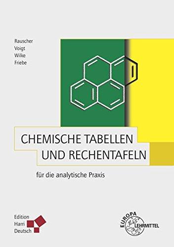 Chemische Tabellen und Rechentafeln für die analytische Praxis (Chemische Tabelle)