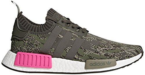 adidas Originals Men's NMD_R1 PK Sneaker, Utility Grey/Utility Grey/Shock Pink, 9.5 M US