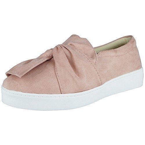 De las mujeres Confortable Llanura Caucho Arco Zapatos Zapatillas tamaño 41 M4HlPIyD