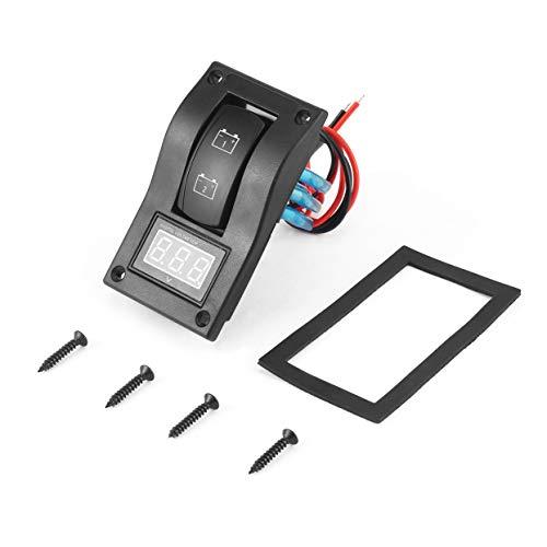 Tree-on-Life wasserdichte 12-24 V LED Dual Digtal Voltmeter Batterie Test Panel Wippschalter für Auto Motorrad LKW Marine Boot 12 Position Panel