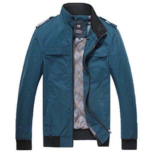 OHmais Herren Winter Jacke Übergangsjacke Daunen Hoodie Parka Kapuzenjacke Mantel Wintermantel Blau