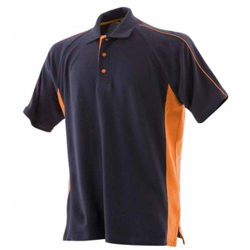 Finden & HalesHerren Poloshirt Blau - Navy/Orange