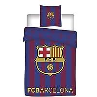 FC BARCELONE Parure de lit réversible - Housse de couette 140x200 + Taie d'Oreiller 65x65 cm