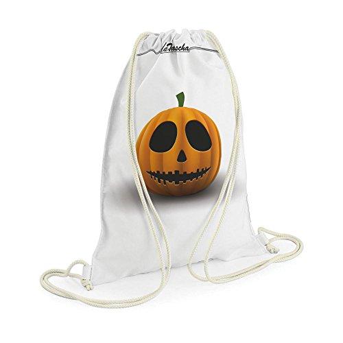 Halloween Kuerbis - LaTascha Gymbag Sporttasche Jutebeutel Hipster Sack Umhängetasche Stringbag (Zeugs Für Halloween)