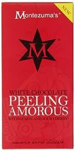 Montezuma's Peeling Amorous White Chocolate with Lemon and Sour Cherry Bar 100 g (Pack of 4)