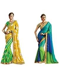 Mantra Georgette Saree (Mant35_Multi-Coloured)
