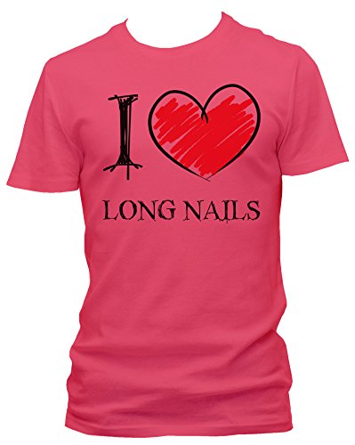 NEON Mens T-Shirt I love Long Nails FUN
