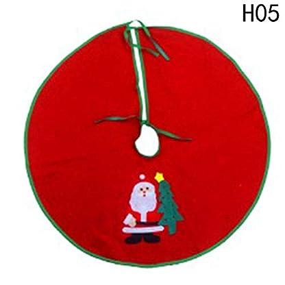 hjfgy-Weihnachtsbaum-Rock-60-cm-90-cm-Vlies-Baum-Dekoration-Rot-Weihnachtsbaumschmuck-in-feinem-Stil