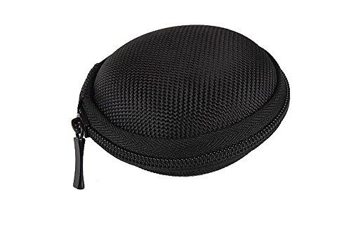 niceeshop(TM) Duro Clamshell estuche rígido Headset impermeable con cierre de cremallera,Negro