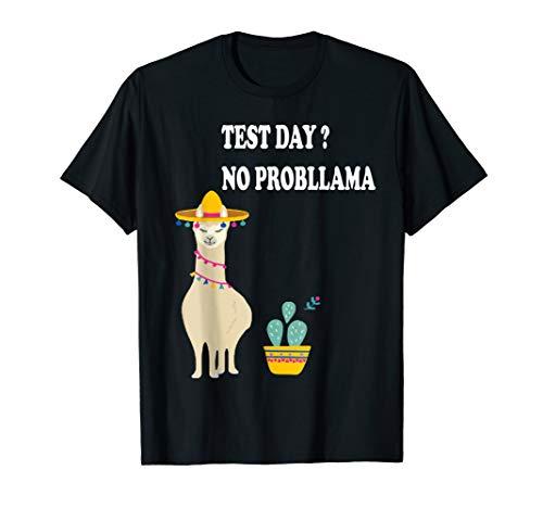 Test Day No Probllama Tshirt Lustig Geschenkidee Prüfung