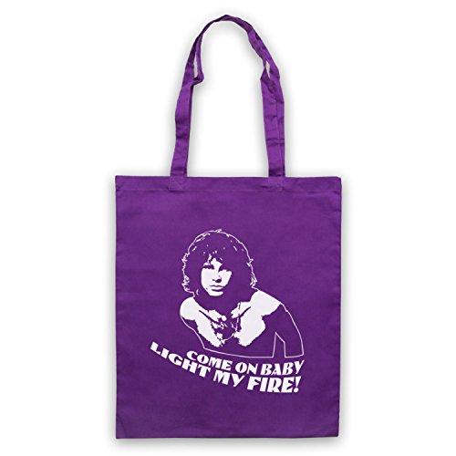 Inspiriert durch Doors Jim Morrison Light My Fire Inoffiziell Umhangetaschen Violett