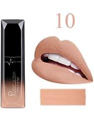 ILOVEDIY 21 Couleurs Rouge à lèvres mat liquide crayon rouge à lèvres imperméable longue durée maquillage (#10)