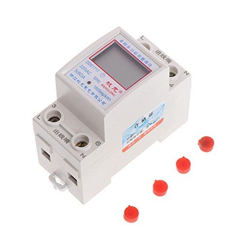 A0127 5 (60) - Carril monofásico de 220 V, 50 Hz, kWh,...