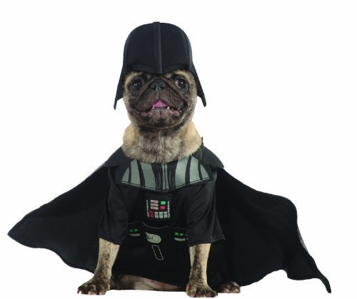 Wars Kostüm Star Mops - Rubies Costume Star Wars Collection Pet Costume, X-Large, Darth Vader by Rubies Decor