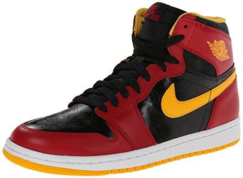Nike Herren Air Jordan 1 Retro High OG Turnschuhe, Weiß, S Schwarz/Rot