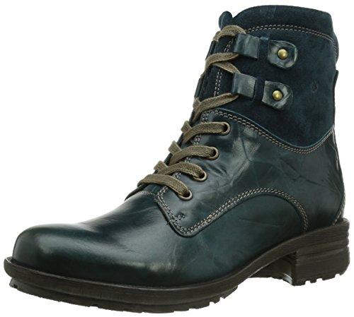 Josef Seibel Sandra 14, Damen Combat Boots, Blau (923 aqua), 36 EU (Manschette Wildleder-boot)