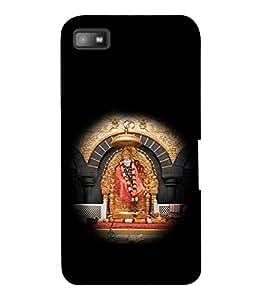 printtech Sri Sainath Sai Baba Back Case Cover for Blackberry Z10