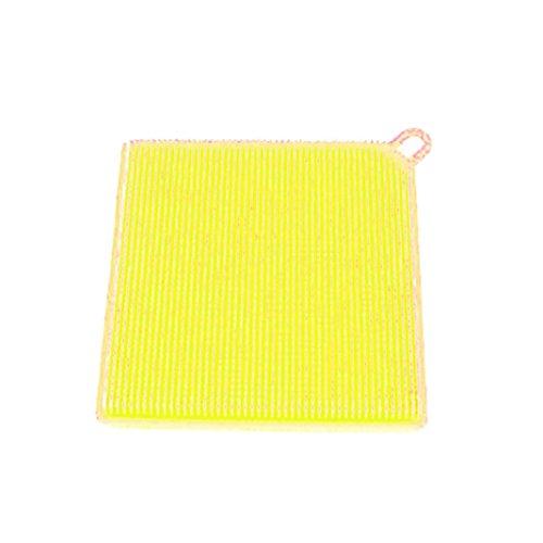 mamum Silikon Scrubber Dish Wash Tuch Schmutz quadratisch Reinigung Antibakterielle Werkzeug für Küche, Bad (Wahl von 7Farben), Silikon, g, 11.5*1.5cm/4.53