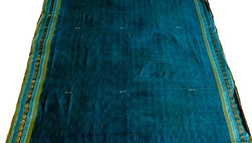 DNMT Cotton Saree (Ss63_Blue_Free Size)