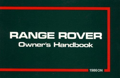 Range Rover 1986/87 (Official Handbooks) por Brooklands Books Ltd