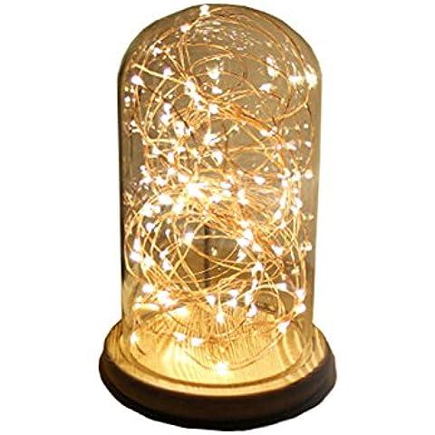 YMJ brillantes luces brillantes adorna la cama LED Lámpara Luz de noche