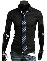 KAYHAN Herren Kurzarmhemd Slim Fit 10 Farben zur Auswahl S-XL Bügelleicht