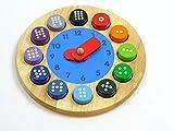 Unbekannt Lern- und Fühluhr aus Holz / Zahlenaufdruck von 1 - 12 + 12 runden Zahlbausteinen / Ø...