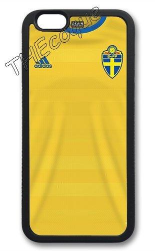 Coque silicone BUMPER souple IPHONE 6/6s PLUS - EURO 2016 football maillot drapeaux suede CASE tpu DESIGN + Film de protection INCLUS 1
