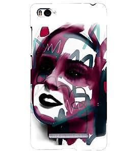 PRINTSHOPPII GIRL FACE Back Case Cover for Xiaomi Redmi Mi4i::Xiaomi Mi 4i