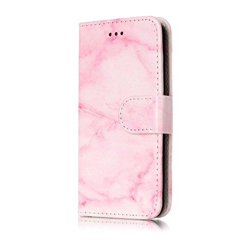 Cover per iPod Touch 5 / 6 Wallet,Custodia per iPhone 7 Plus,Sunroyal Marmo Flip Libro Stand Case Cover in PU Pelle Borsa e Portafoglio Ultra Slim TPU Silicon Gel Protezione Chiusura Magnetica Case Co Modello 03