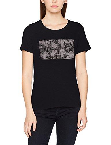 ONLY Damen T-Shirt Onlbibi S/S Sequins Shine Top Box Ess, Schwarz (Black Print:Bling (Black)), 34 (Herstellergröße: XS) (Damen-box Schwarze)