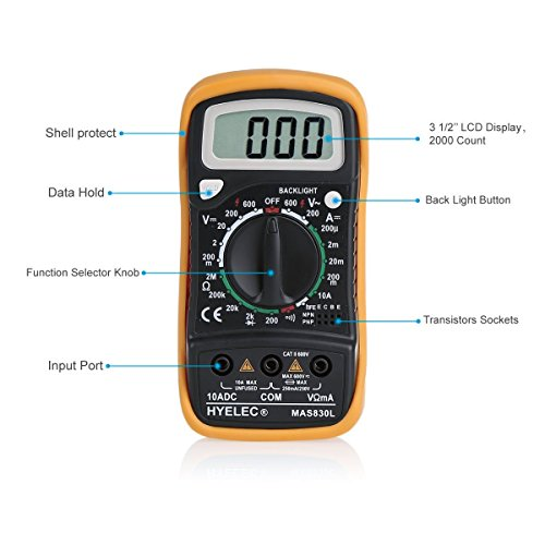 auto baumarkt ccbetter digital multimeter multi tester voltmeter amperemeter ohmmeter ac. Black Bedroom Furniture Sets. Home Design Ideas