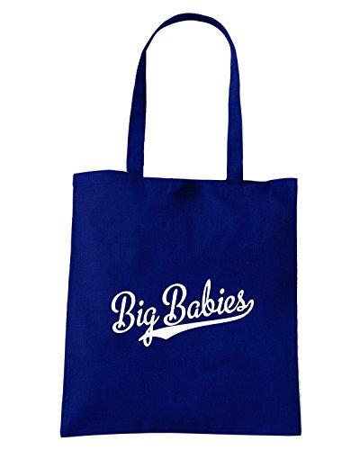 T-Shirtshock - Borsa Shopping FUN0762 big babies baseball softball t shirt Blu Navy