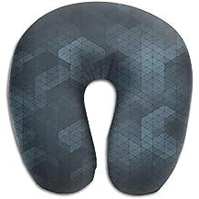 hanbaozhou Cuscini Memory Foam Neck Pillow Cushion Retro Pattern Comfy Soft U-Shape Cervical Pillow Head Support Travel Office Home Sleeping