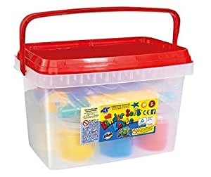 Feuchtmann Kinder Soft Air-Dry Modelling Clay in a Bucket with Roller Set by Feuchtmann