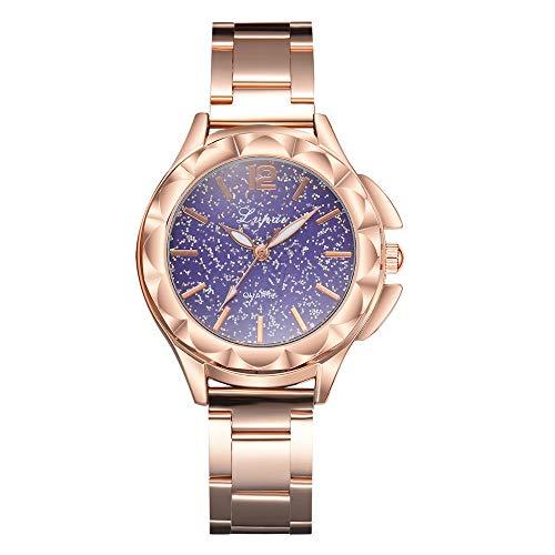 TianWlio Armbanduhren Damen Lvpai Lässige Quartz Steel Belt Uhr Analoge Armbanduhr