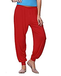 Go Colors Cherry Red Harem Pants