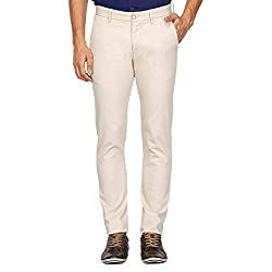 Allen Solly Mens Casual Trousers (AMTF517G01794_Beige_38W x 34L)