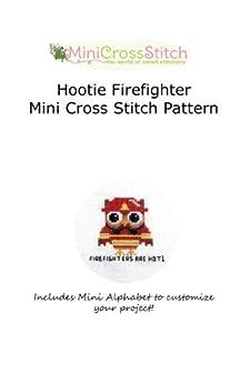 Hootie Firefighter Mini Cross Stitch Pattern by [Stitch, Pinoy]