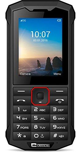 Crosscall Spider-X4 Téléphone Portable Débloqué 3G+ (Ecran: 2,4 pouces - 64 Go ROM - Dual SIM) Noir